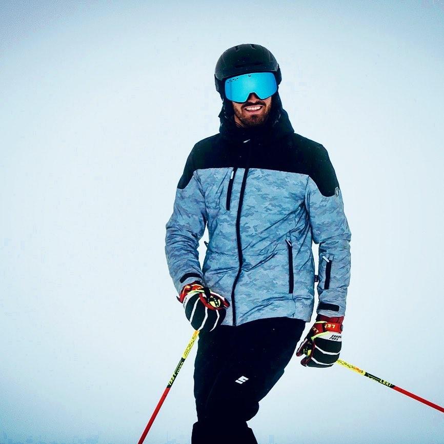 Agostino Mazzocchi sulla neve, la sua più grande passione