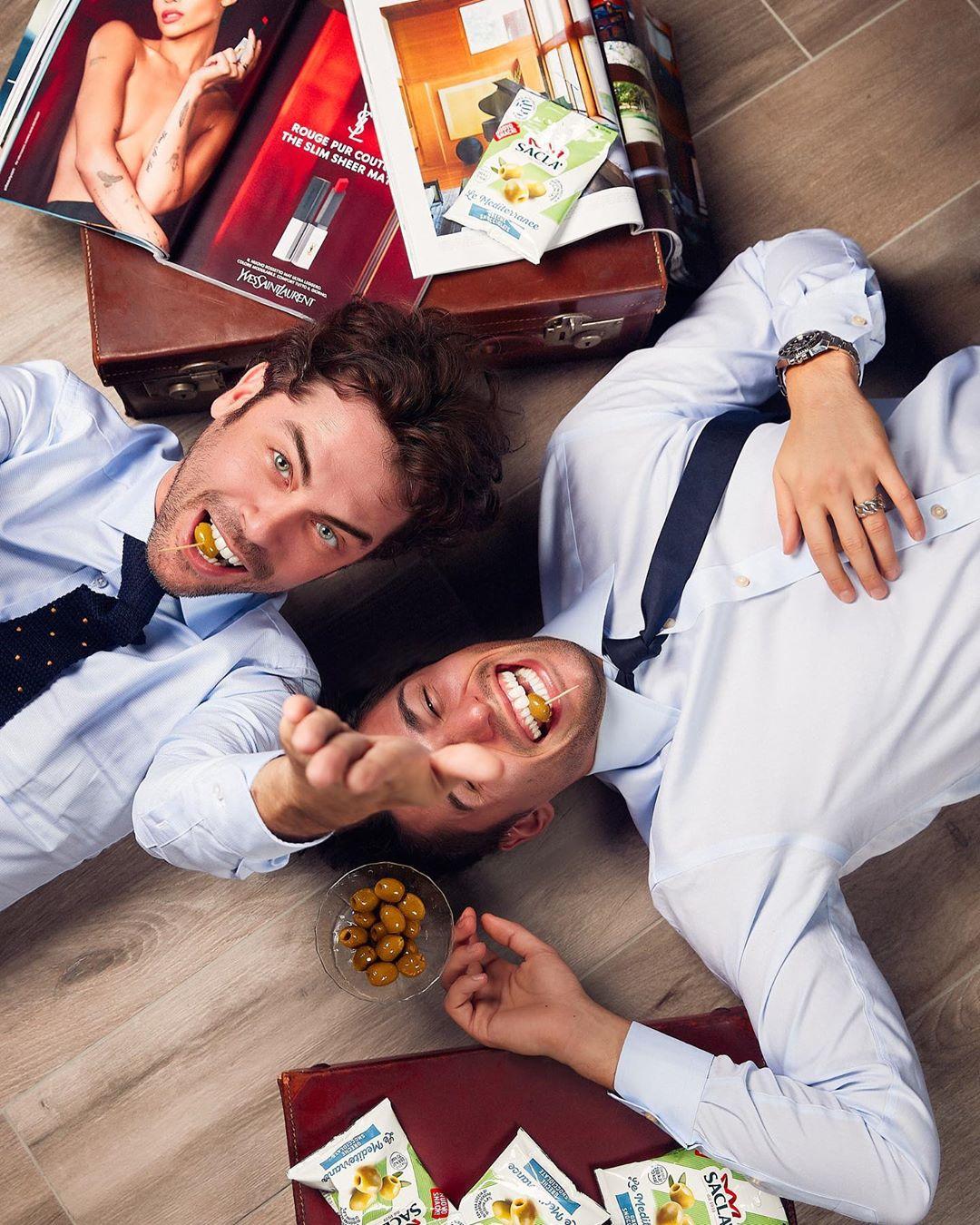 Raffaello Tonon con l'amico Luca Onestini