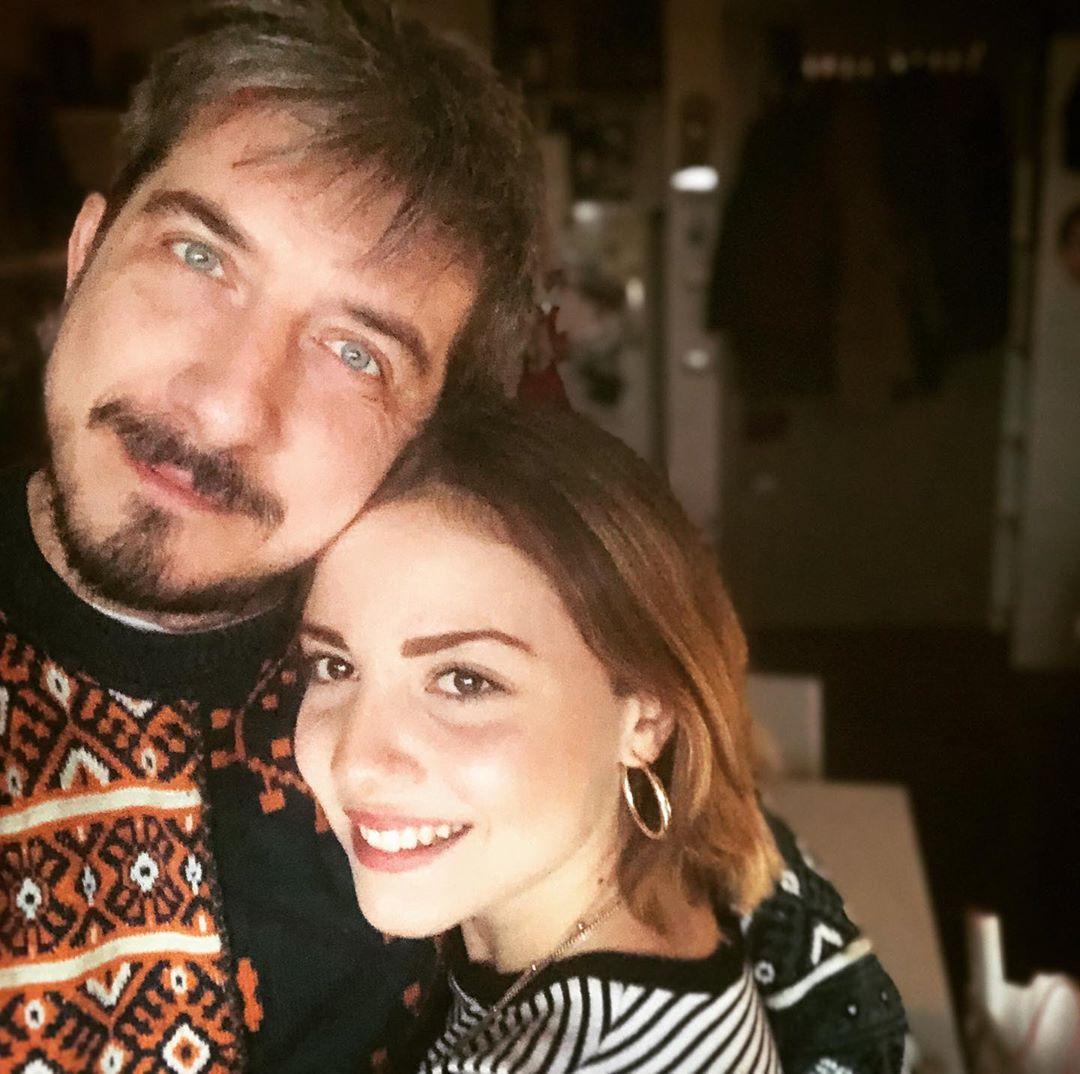 Paolo Ruffini con la sua nipotina, a cui è molto legato