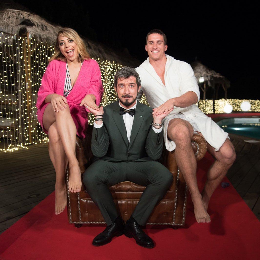 Paolo Ruffini con i vincitori de La Pupa e il Secchione