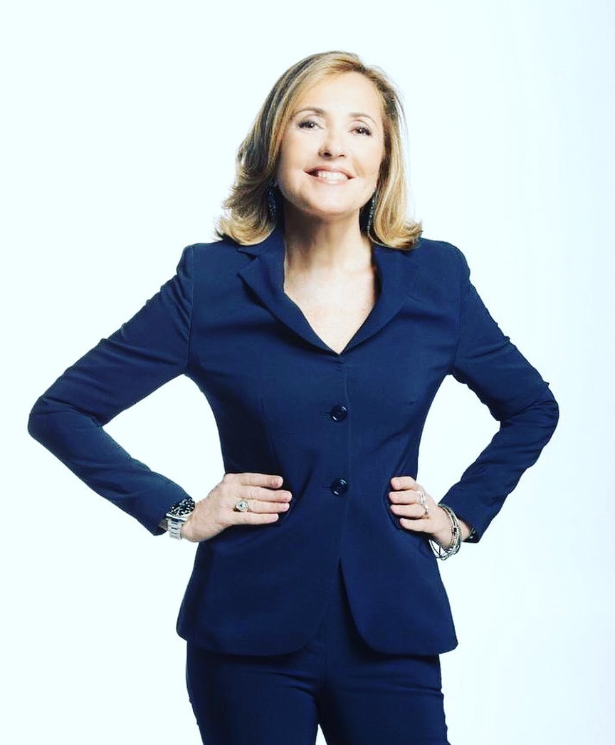 Barbara Palombelli, giornalista e conduttrice tv molto famosa