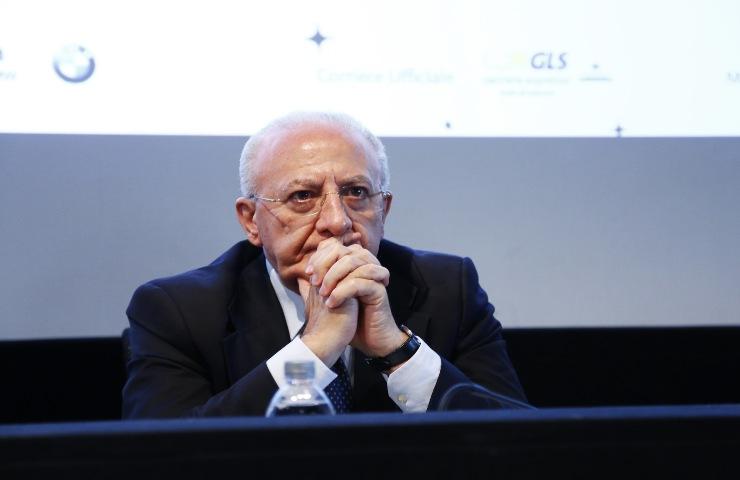 Campania il governatore Vincenzo De Luca