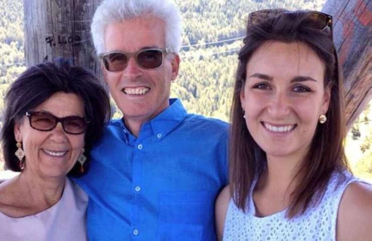 Peter Neumair con la moglie Laura Perselli e la figlia Madè