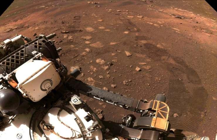 Ripresa di Perseverance su Marte