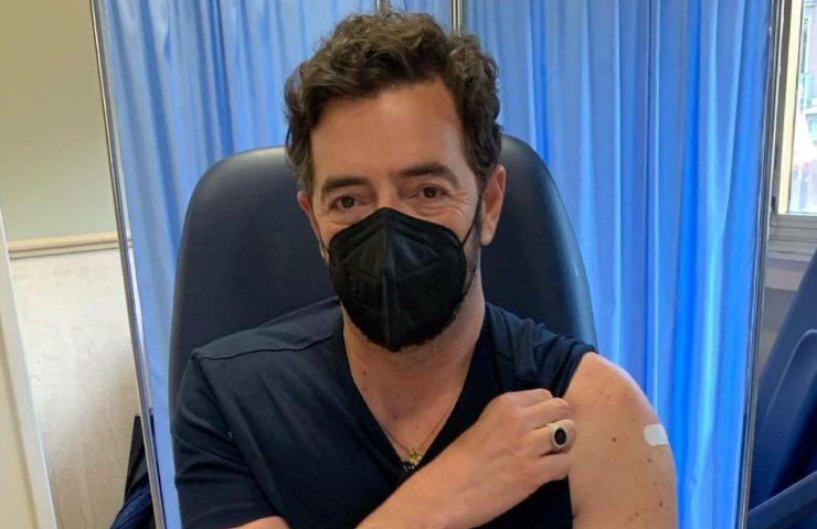 Alberto Matano vaccinato