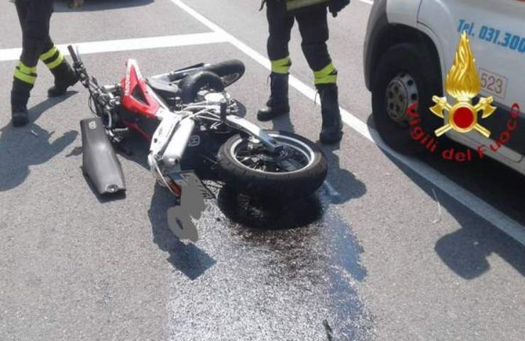 Incidente stradale in moto nel Milanese