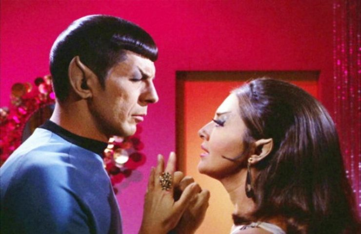 Joanne Linville e Leonard Nimoy in Star Trek