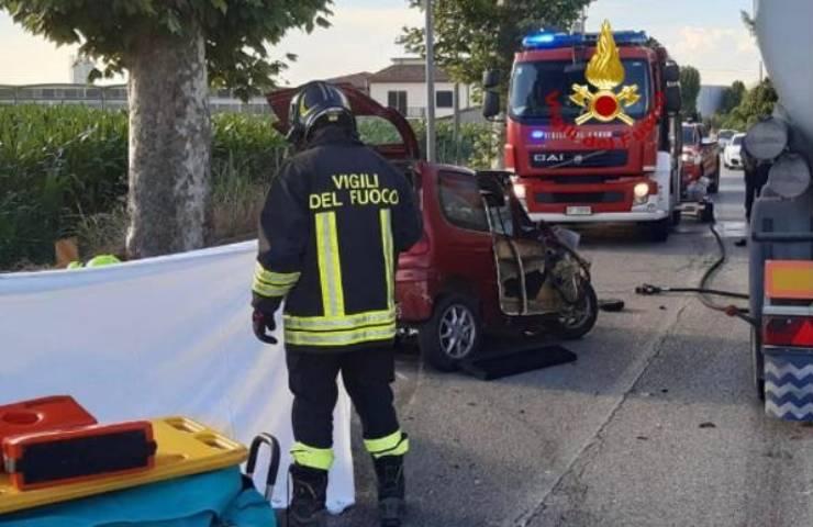 Incidente stradale mortale in provincia di Padova