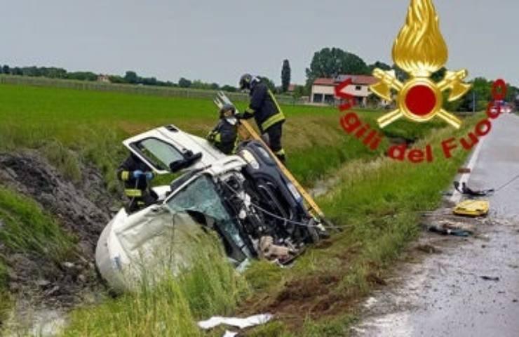 incidente stradale in Trentino