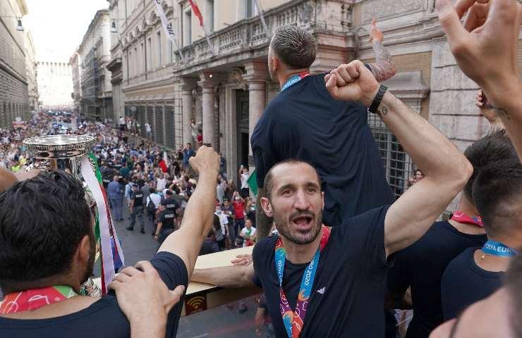 Chiellini guida la festa per Roma