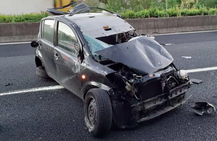 Incidente stradale in provincia di Frosinone Foto dal web