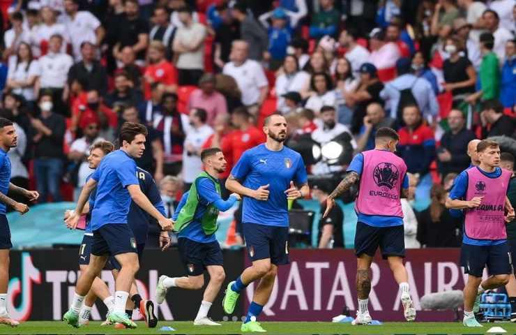 Italia Inghilterra gli azzurri nel prepartita