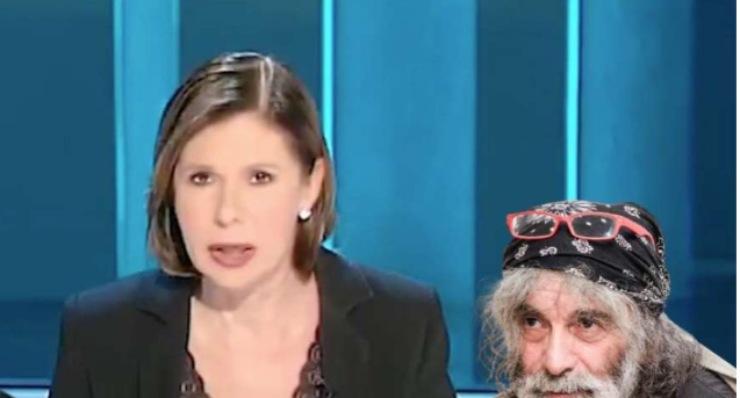 Screenshot Bianca Berlinguer e Mauro Corona