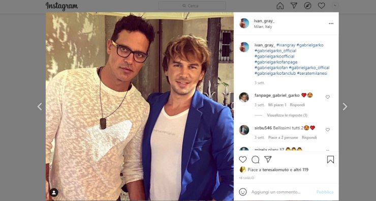 Screenshot Gabriel Garko e Ivan Gray