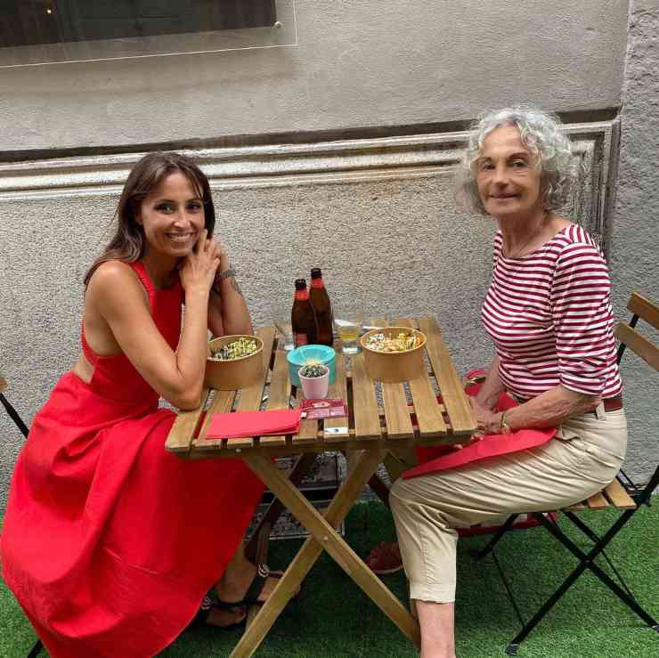 Benedetta Parodi con la madre a Milano