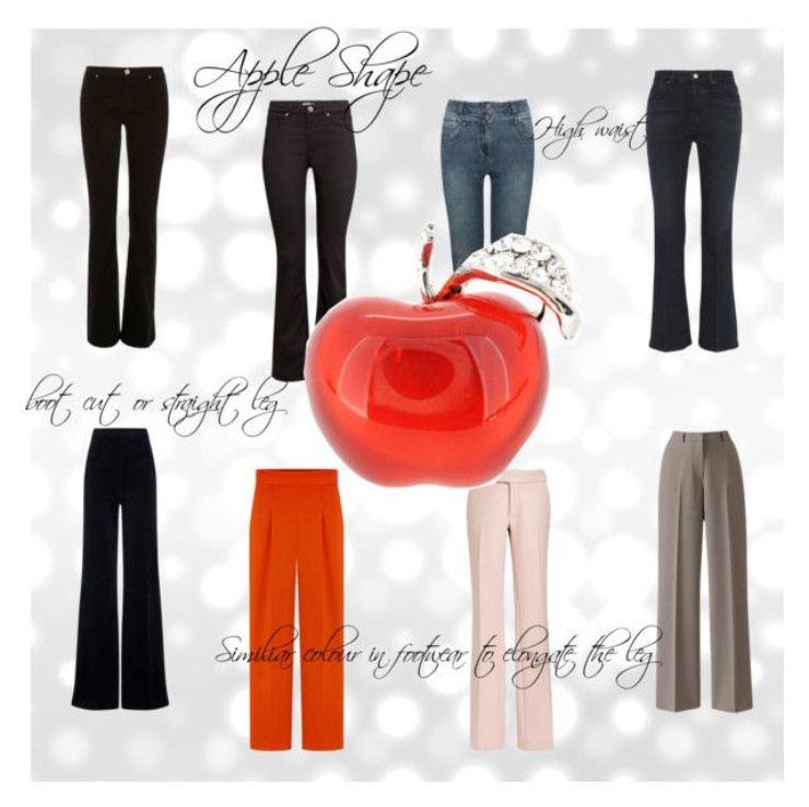 Pantaloni per fisico a mela