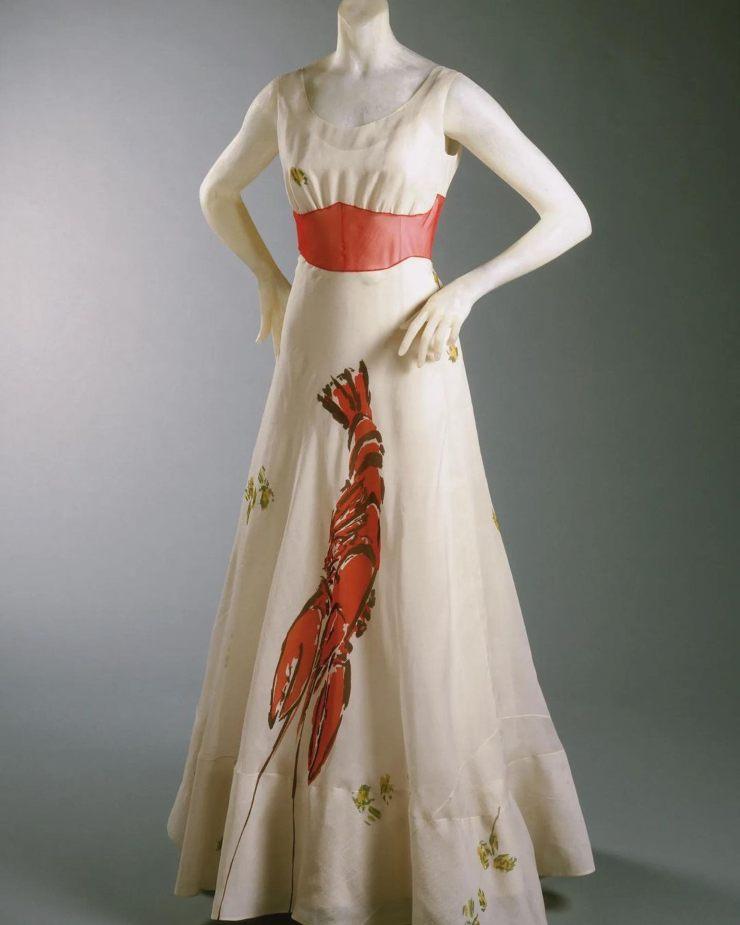 Elsa Schiaparelli abito aragosta ciaostyle.it-
