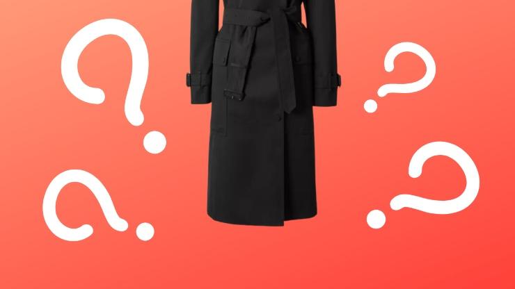 trench coat nero