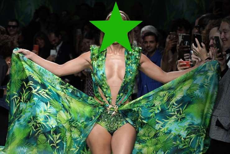 sfilata abito verde