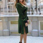 Paola Ferrari abito velluto