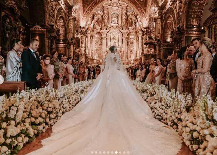 Jasmine Tookes vestito sposa