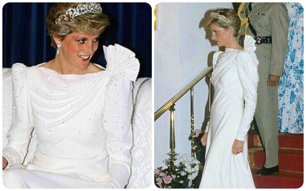 Lady Diana abito bianco ciaostyle.it