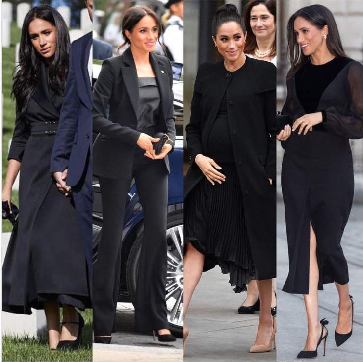 Meghan Markle outfit nero
