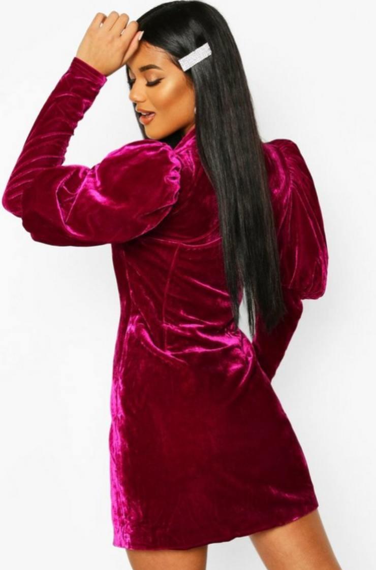 Smoking vestito rosso