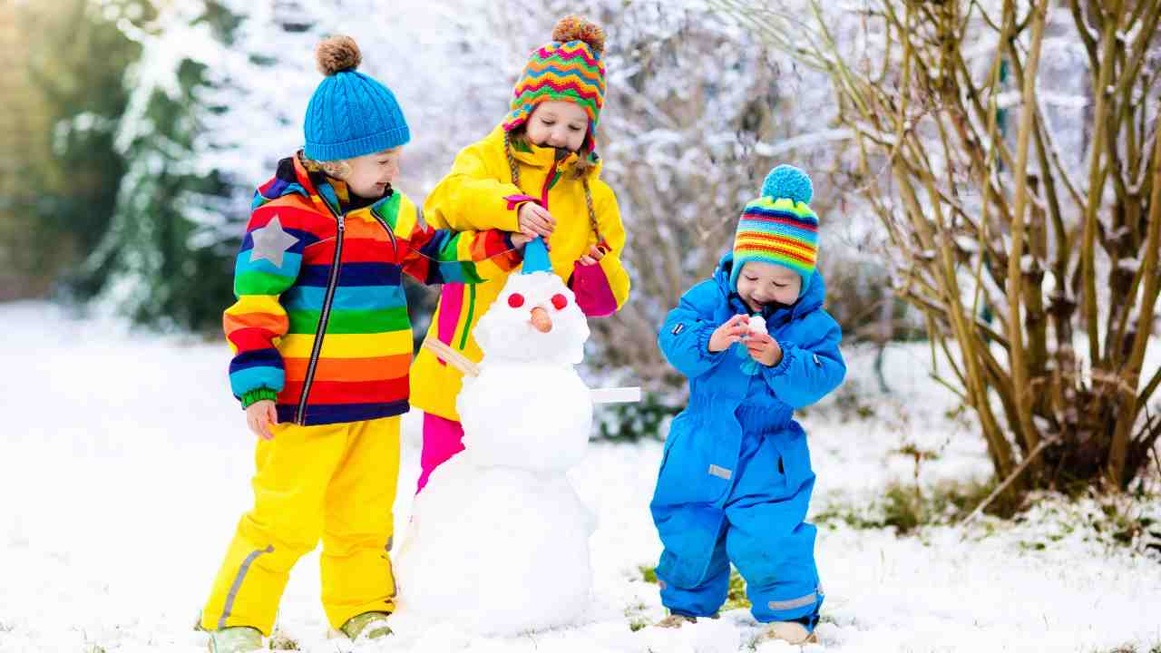 bambini neve