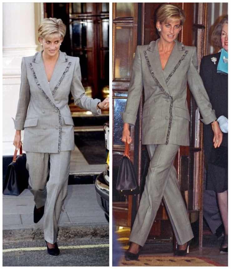 lady Diana giacca e pantalone