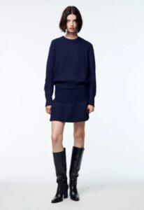 maglione blu lana