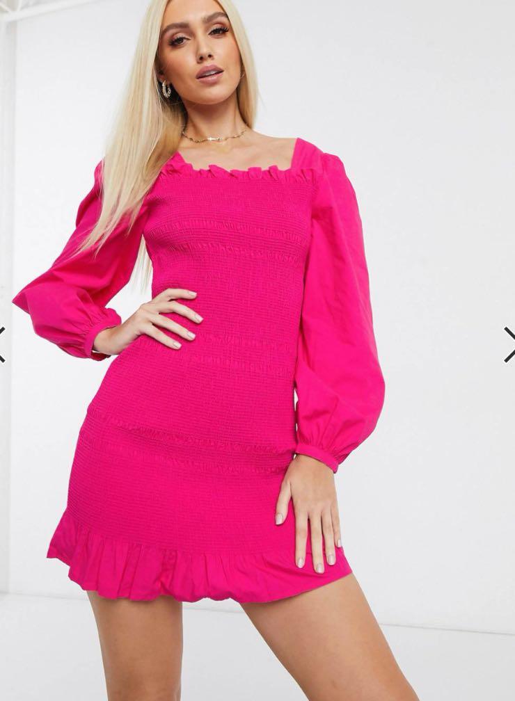 mini dress fucsia