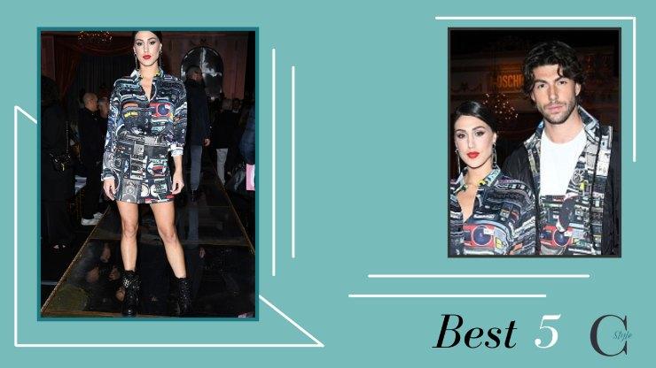 Cecilia Rodriguez e Ignazio Moser Moschino Fashion show