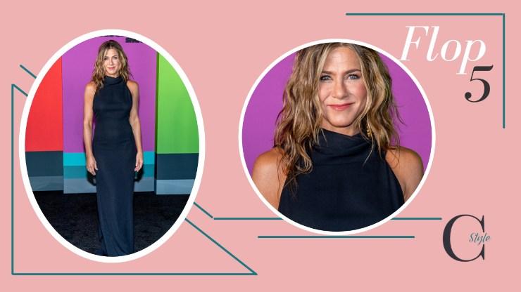 Jennifer Aniston con abito blu