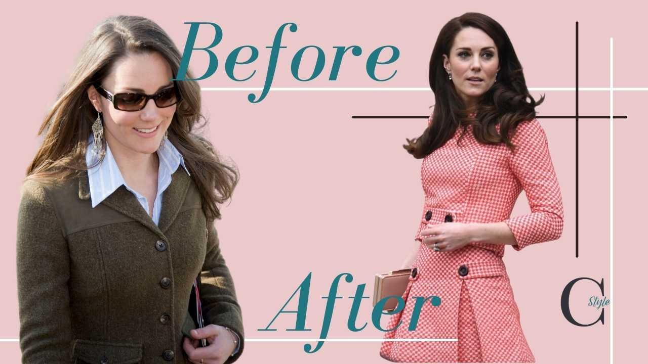 Kate Middleton ieri e oggi