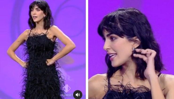 Rocío Muñoz Morales con outfit nero alle Iene