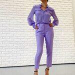 Rossella Brescia outfit lilla