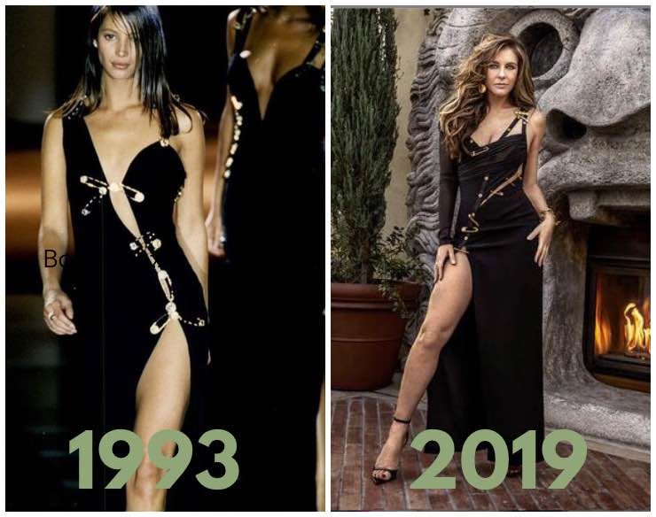 Versace safety pin dresses