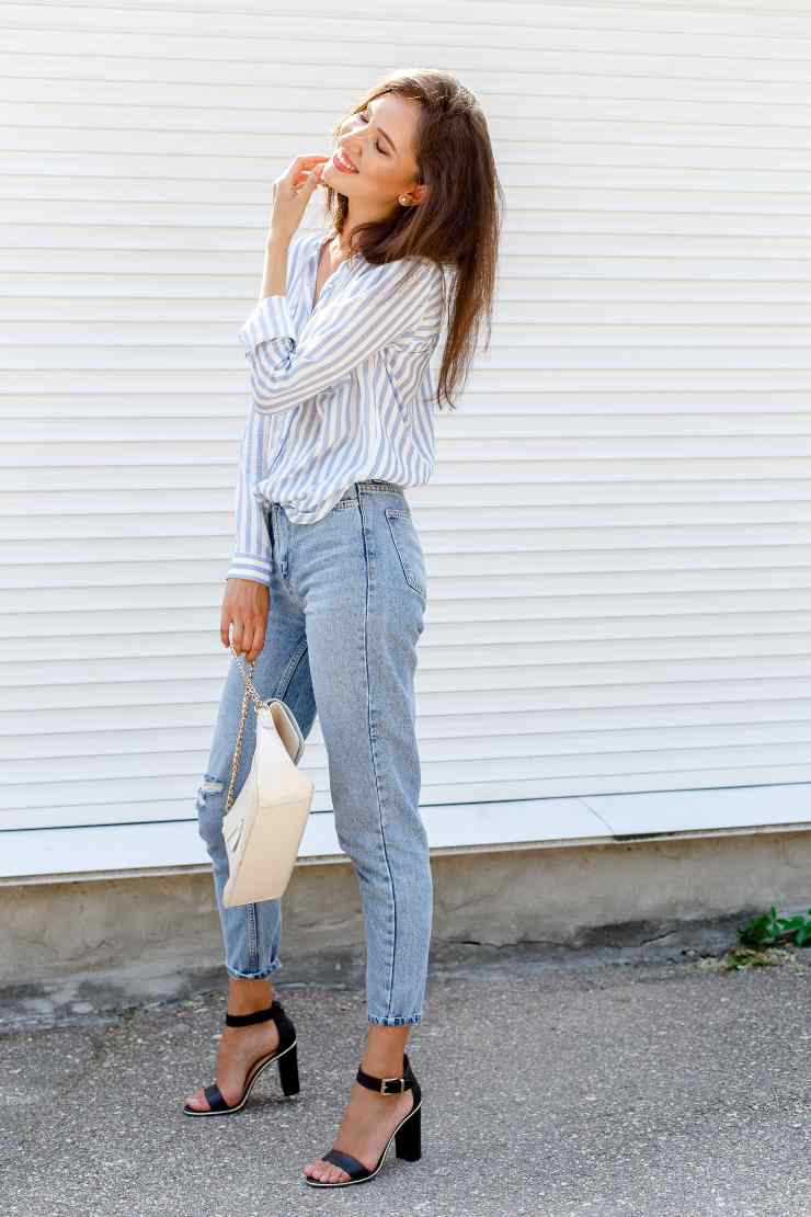 camicia jeans idea abbinamento
