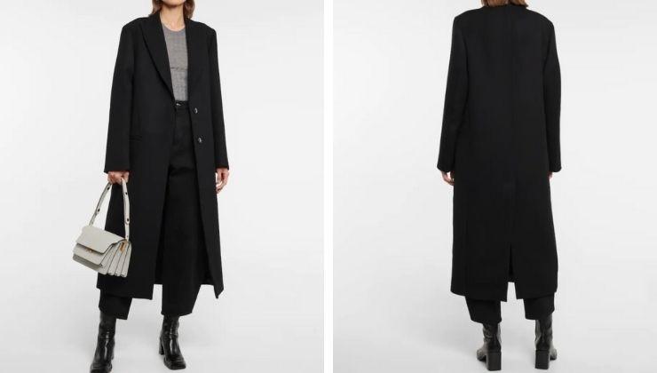 cappotto nero TOTEME