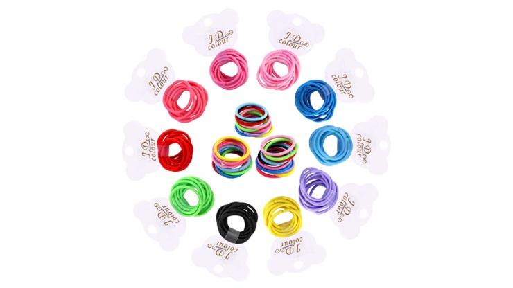 elastici per capelli colorati per bambine
