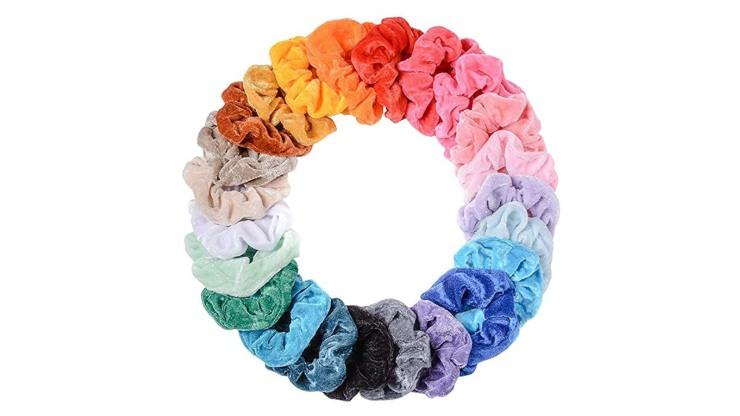 scrunchies colorati per capelli