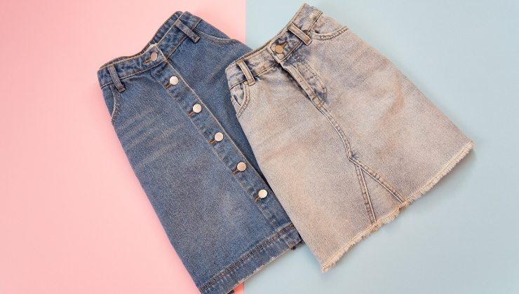 gonna di jeans soluzione quiz