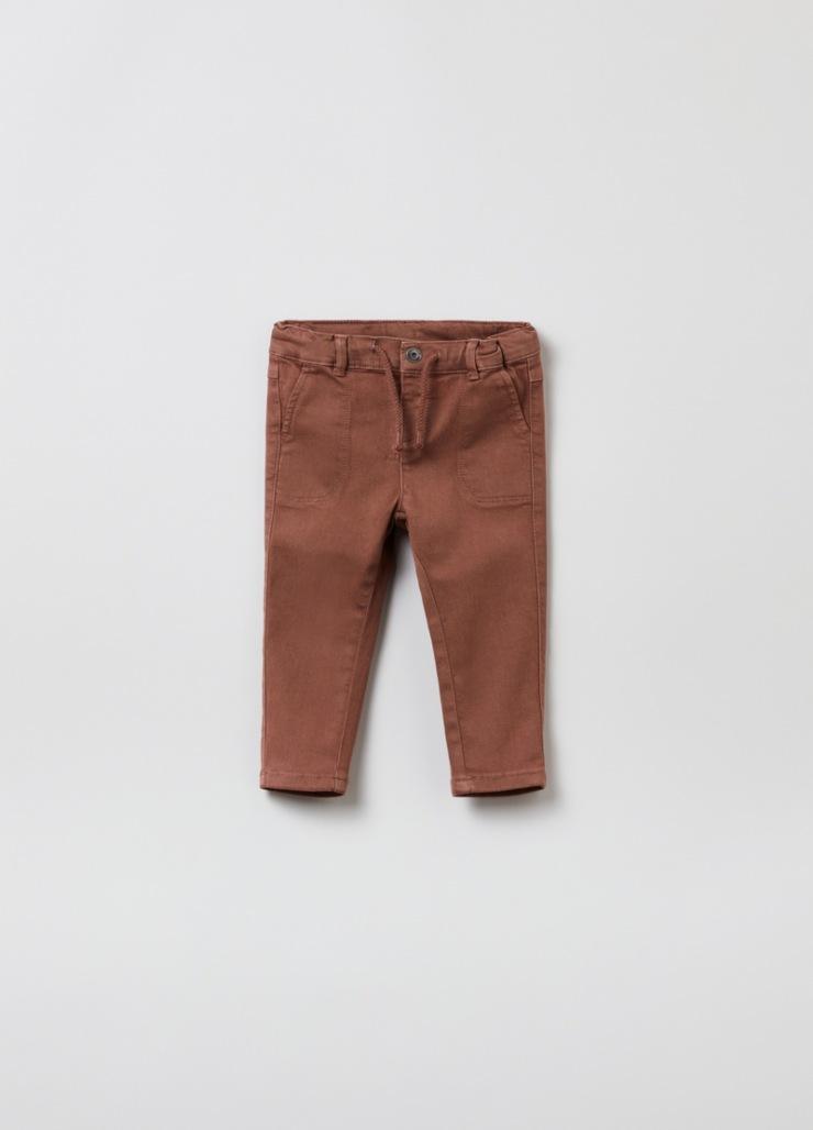 pantalone twill cotone
