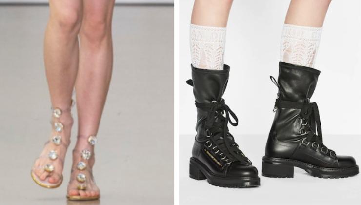 calzature di Gianbattista Valli e Dior