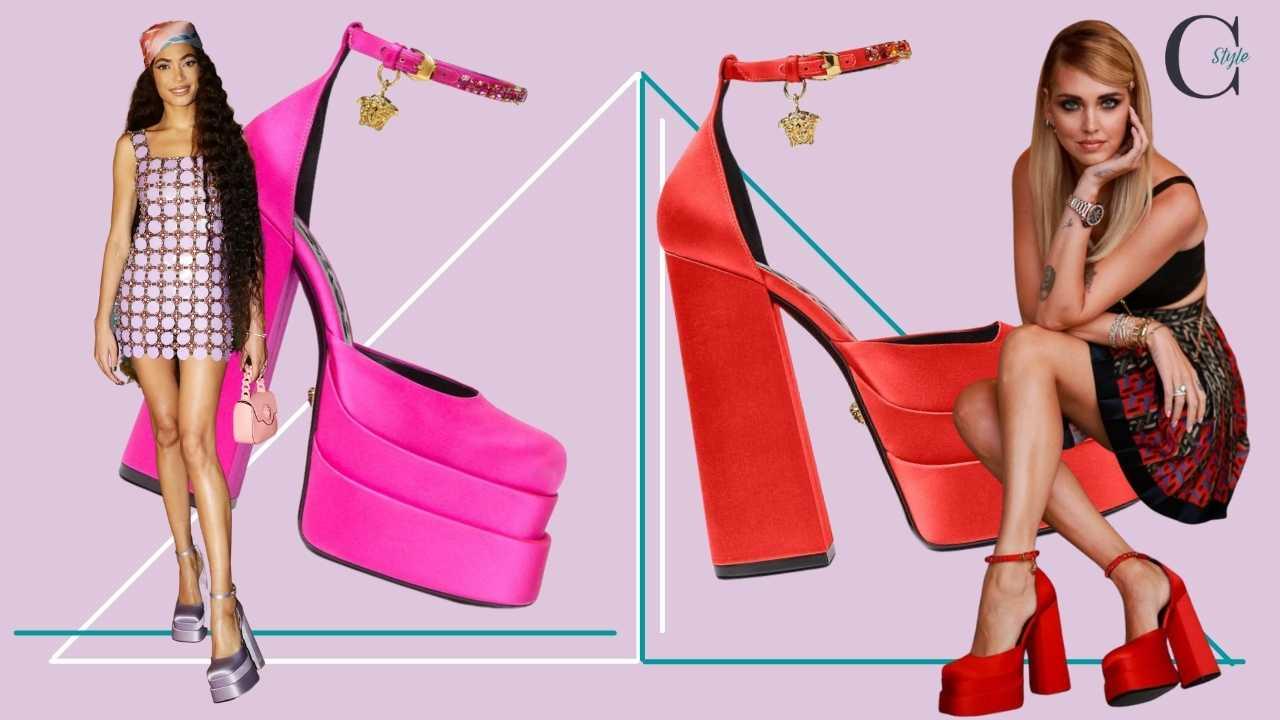 sscarpe versace Elodie Chiara Ferragni