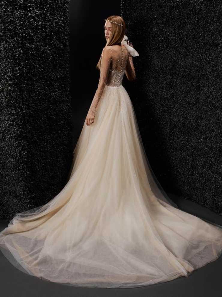 abito strascico sposa vera wang