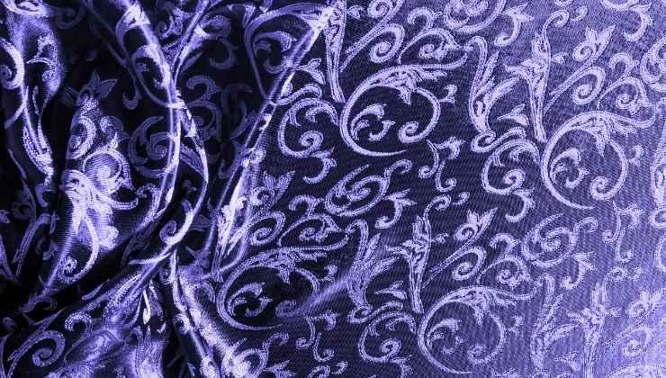 tessuto damasco viola